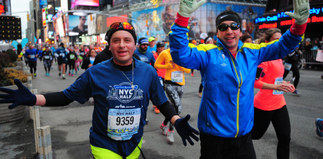 Action 7th Avenue The 2015 United Airlines NYC Half Marathon in New York, NY, on 3/15/2015. Credit: Porter Binks