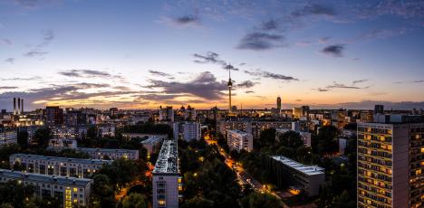 berlin solnedgång