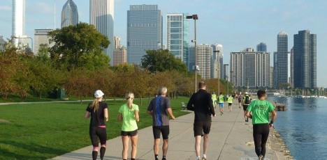 Chicago morgonjogg