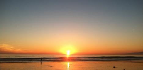 LA strand kväll