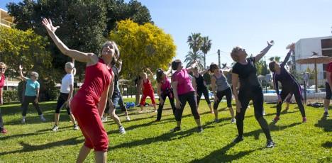 Friskis Alicante träning gräs