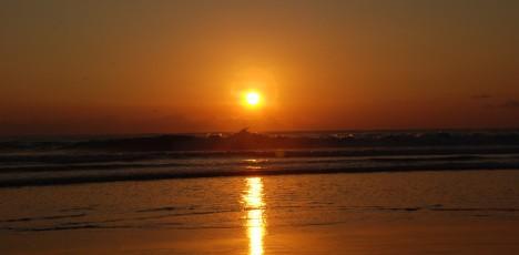 Costa rica solnedgång