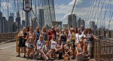 NYC Tjejmil Brooklyn bridge grupp