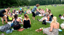 NYC Tjejmil picknick Central Park 2
