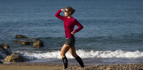 Turkiet löpning strand kvinna