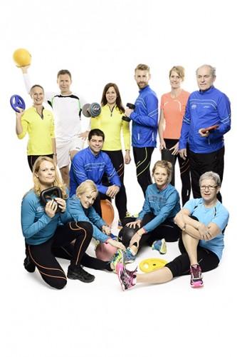 Kontoret gruppbild sport