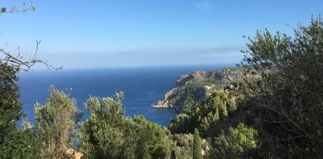 Mallorca hav och bergsvy